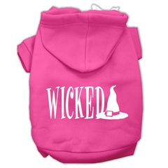 Mirage Pet Products Wicked Screen Print Pet Hoodies Bright Pink Size XXXL(20)