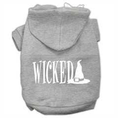 Mirage Pet Products Wicked Screen Print Pet Hoodies Grey Size XXXL(20)