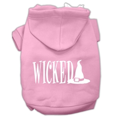 Mirage Pet Products Wicked Screen Print Pet Hoodies Light Pink Size XXXL(20)