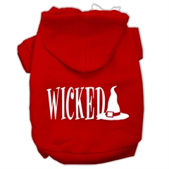 Mirage Pet Products Wicked Screen Print Pet Hoodies Red Size XXXL(20)
