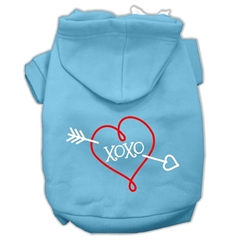 Mirage Pet Products XOXO Screen Print Pet Hoodies Baby Blue Size XXXL (20)