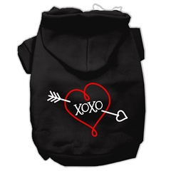 Mirage Pet Products XOXO Screen Print Pet Hoodies Black Size Sm (10)