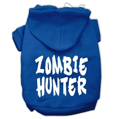 Mirage Pet Products Zombie Hunter Screen Print Pet Hoodies Blue Size XXXL(20)