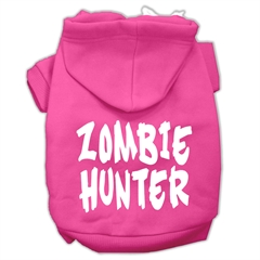 Mirage Pet Products Zombie Hunter Screen Print Pet Hoodies Bright Pink Size XL (16)