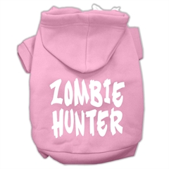 Mirage Pet Products Zombie Hunter Screen Print Pet Hoodies Light Pink Size XXL (18)