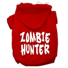 Mirage Pet Products Zombie Hunter Screen Print Pet Hoodies Red Size XXL (18)