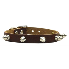 Mirage Pet Products Spike  Leather Burgundy 18