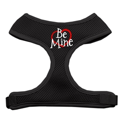 Mirage Pet Products Be Mine Soft Mesh Harnesses Black Large