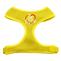 Mirage Pet Products Be Mine Soft Mesh Harnesses Yellow Medium
