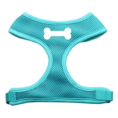 Mirage Pet Products Bone Design Soft Mesh Harnesses Aqua Extra Large
