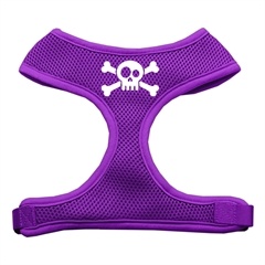 Mirage Pet Products Skull Crossbones Screen Print Soft Mesh Harness Purple Small