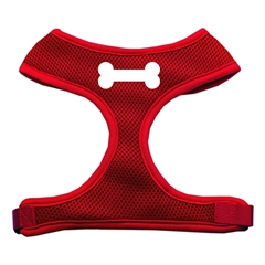 Mirage Pet Products Bone Design Soft Mesh Harnesses Red Large