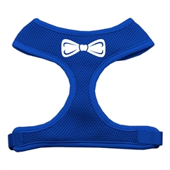 Mirage Pet Products Bow Tie Screen Print Soft Mesh Harness Blue Large