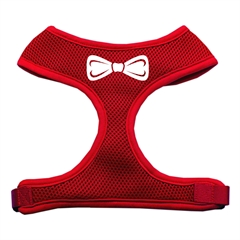 Mirage Pet Products Bow Tie Screen Print Soft Mesh Harness Red Large