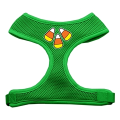 Mirage Pet Products Candy Corn Design Soft Mesh Harnesses Emerald Green Large