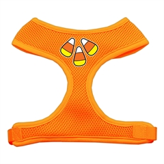 Mirage Pet Products Candy Corn Design Soft Mesh Harnesses Orange Large