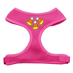 Mirage Pet Products Candy Corn Design Soft Mesh Harnesses Pink Small