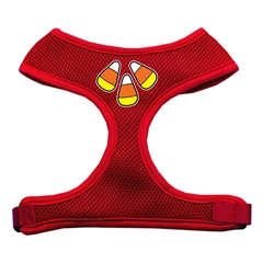 Mirage Pet Products Candy Corn Design Soft Mesh Harnesses Red Large