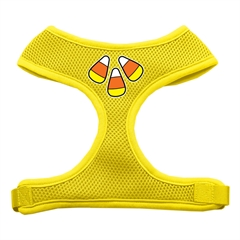 Mirage Pet Products Candy Corn Design Soft Mesh Harnesses Yellow Medium
