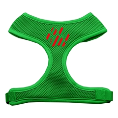 Mirage Pet Products Christmas Paw Screen Print Soft Mesh Harness Emerald Green Large