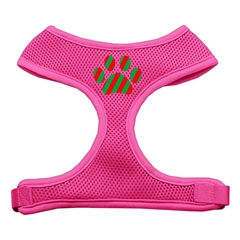 Mirage Pet Products Christmas Paw Screen Print Soft Mesh Harness Pink Small