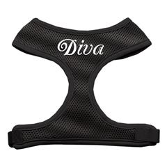 Mirage Pet Products Diva Design Soft Mesh Harnesses Black Large