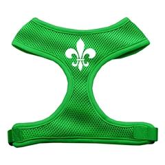 Mirage Pet Products Fleur de Lis Design Soft Mesh Harnesses Emerald Green Medium