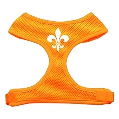 Mirage Pet Products Fleur de Lis Design Soft Mesh Harnesses Orange Large