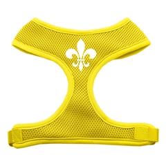 Mirage Pet Products Fleur de Lis Design Soft Mesh Harnesses Yellow Large
