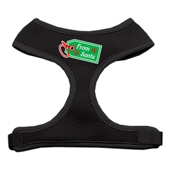 Mirage Pet Products From Santa Tag Screen Print Mesh Harness Black Extra Large