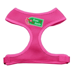 Mirage Pet Products From Santa Tag Screen Print Mesh Harness Pink Extra Large