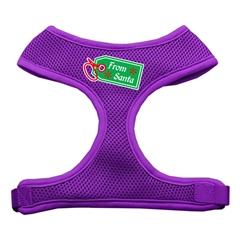 Mirage Pet Products From Santa Tag Screen Print Mesh Harness Purple Small