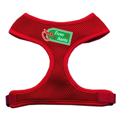 Mirage Pet Products From Santa Tag Screen Print Mesh Harness Red Medium