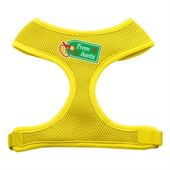 Mirage Pet Products From Santa Tag Screen Print Mesh Harness Yellow Large