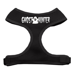 Mirage Pet Products Ghost Hunter Design Soft Mesh Harnesses Black Medium