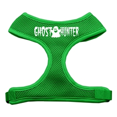 Mirage Pet Products Ghost Hunter Design Soft Mesh Harnesses Emerald Green Large