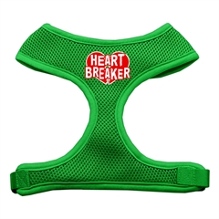 Mirage Pet Products Heart Breaker Soft Mesh Harnesses Emerald Green Large