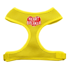 Mirage Pet Products Heart Breaker Soft Mesh Harnesses Yellow Extra Large
