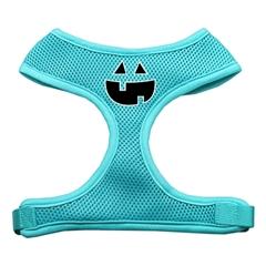 Mirage Pet Products Pumpkin Face Design Soft Mesh Harnesses Aqua Large