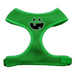 Mirage Pet Products Pumpkin Face Design Soft Mesh Harnesses Emerald Green Medium
