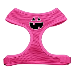 Mirage Pet Products Pumpkin Face Design Soft Mesh Harnesses Pink Large