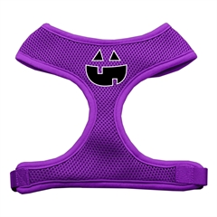 Mirage Pet Products Pumpkin Face Design Soft Mesh Harnesses Purple Medium
