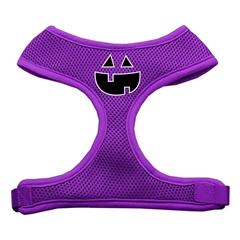 Mirage Pet Products Pumpkin Face Design Soft Mesh Harnesses Purple Extra Large