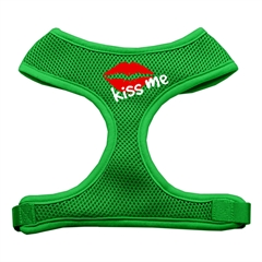 Mirage Pet Products Kiss Me Soft Mesh Harnesses Emerald Green Large