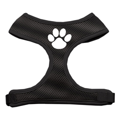 Mirage Pet Products Paw Design Soft Mesh Harnesses Black Large