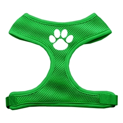 Mirage Pet Products Paw Design Soft Mesh Harnesses Emerald Green Medium