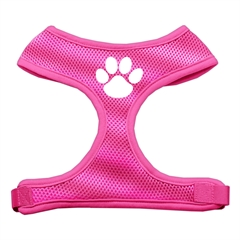 Mirage Pet Products Paw Design Soft Mesh Harnesses Pink Small