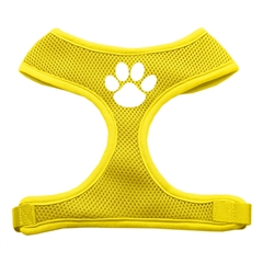 Mirage Pet Products Paw Design Soft Mesh Harnesses Yellow Medium