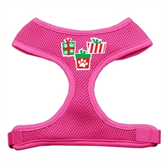 Mirage Pet Products Presents Screen Print Soft Mesh Harness  Pink Large