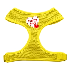 Mirage Pet Products Puppy Love Soft Mesh Harnesses Yellow Extra Large